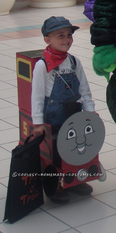 My Boys in Thomas and James Trains Homemade Halloween Costumes - 1