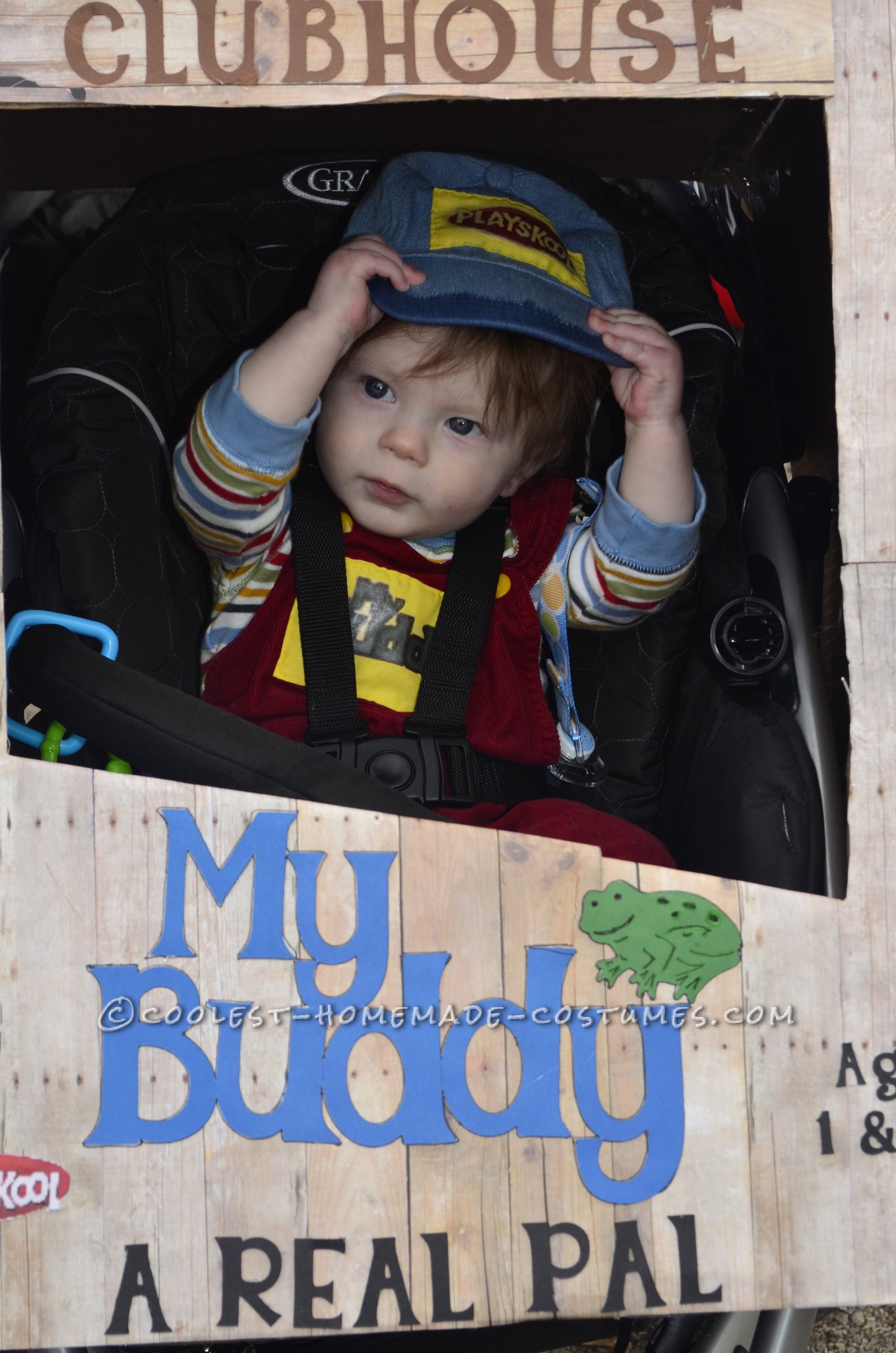 "After searching for web for an original cosutme for my 7 month old son I stumbled over a picture of a child dressed as ""chucky"".  I found that"
