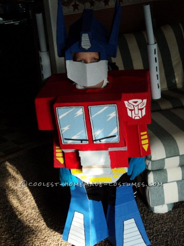Cool Little Optimus Prime Homemade Halloween Costume