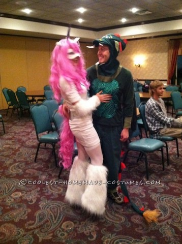 My boyfriend and I went as a unicorn and dragon for Halloween! I actually started our costumes last year, but a rogue blizzard rolled in and cancelle