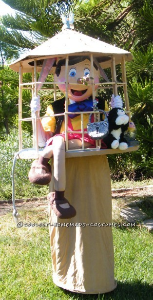 Coolest Pinocchio in a Cage Optical Illusion Costume