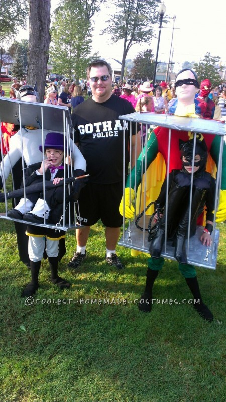 optical illusion Batman and Robin costumes