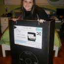 This Old-Fashioned iPod costume was so much fun to build and especially wear. It was definitely a crowd pleaser and I got so many compliments through