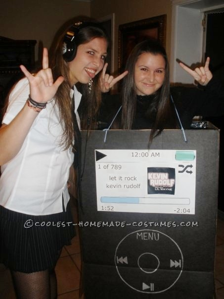 """My friend dressed up as a rocker chick and wore the headphones... we told everyone that I was """"her iPod"""""""