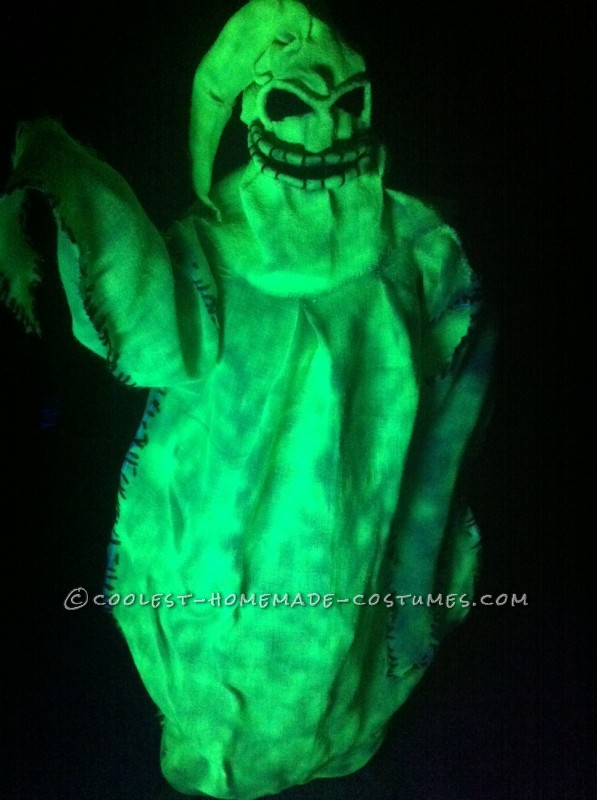 Homemade Glowing Oogie Boogie Costume