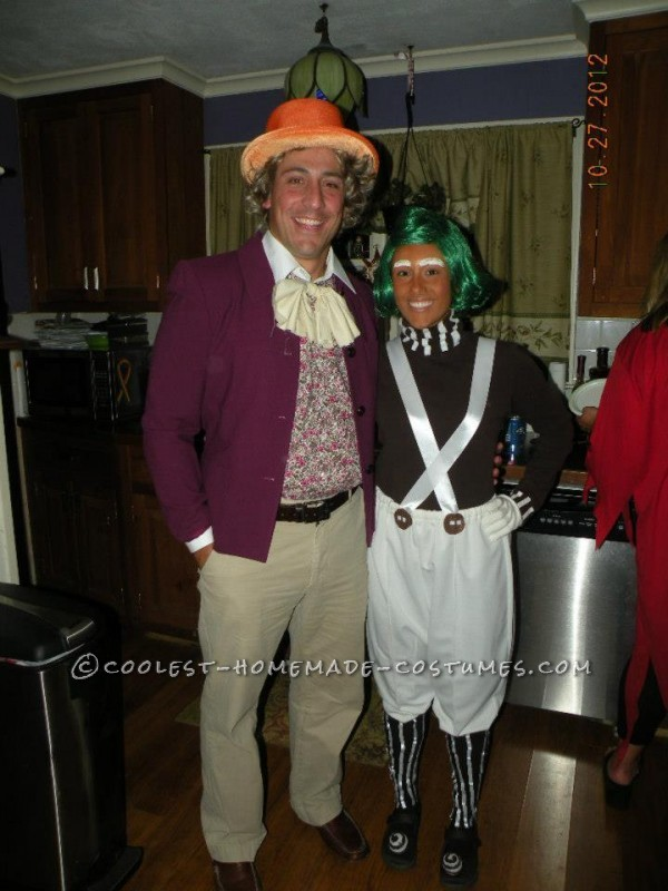 Our Oompa and Willy costumes have been the most fun not only to wear but to make so far!!  I googled some pictures of oompa loompas as well as t