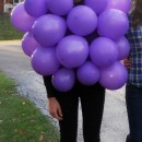My costume for Halloween was a bunch of grapes! It was very easy to make and easy on my wallet. It was so much fun seeing the reactions of others and