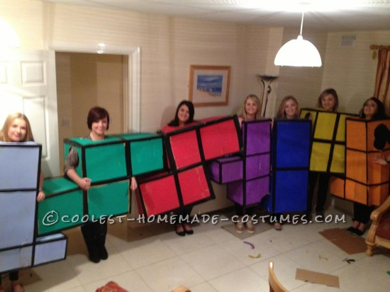 Original Tetris Blocks Group Costume - 1