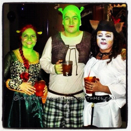 Fiona, Shrek & Pussi n Boots