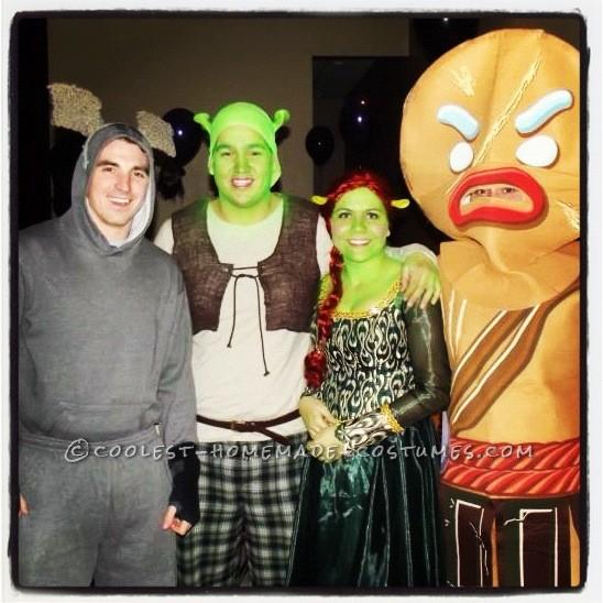 Donkey, Shrek, FIona & Warrior Gingy