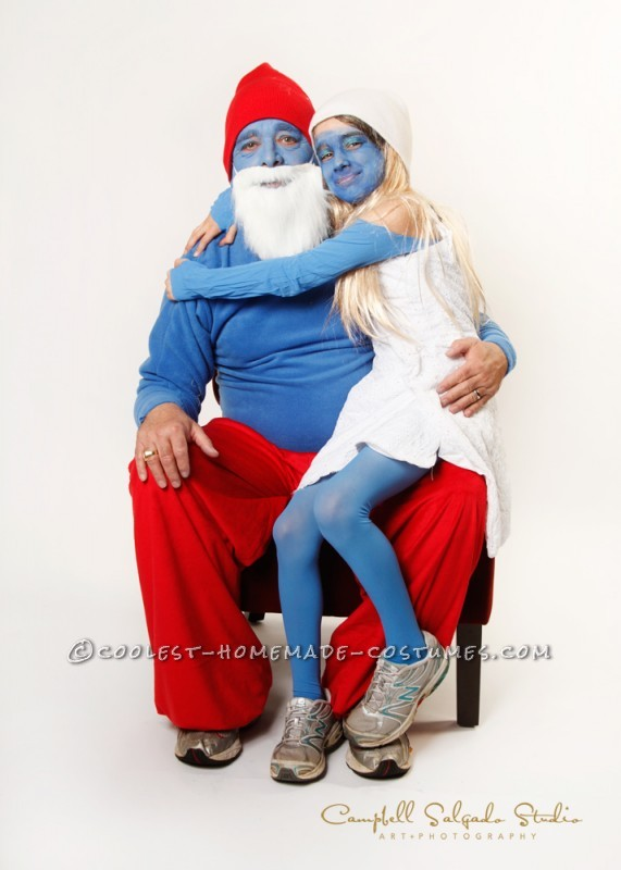 Couples Papa Smurf and Smurfette – Dad and Daughter Costume