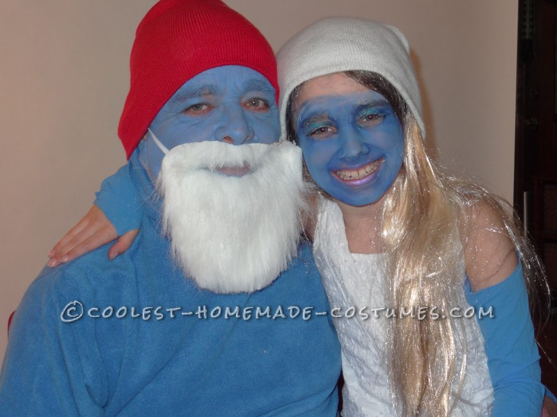 Couples Papa Smurf and Smurfette – Dad and Daughter Costume - 2