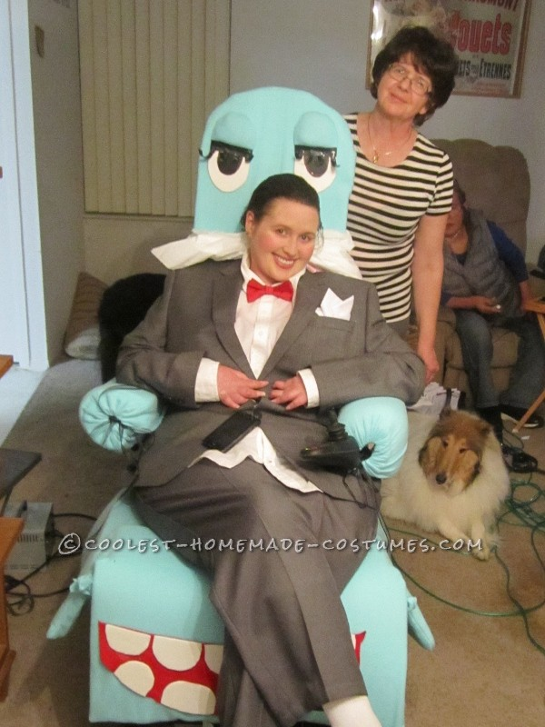 Homemade Pee-Wee Herman Wheelchair Costume - 2