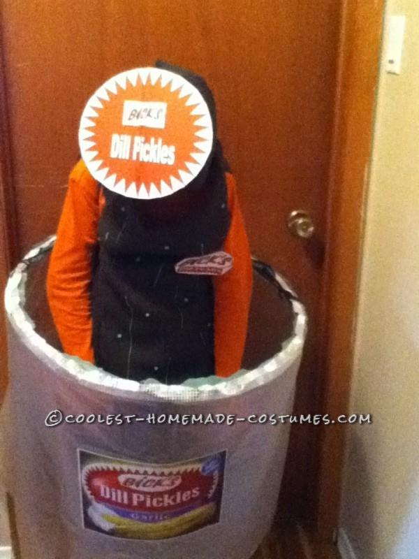 Original Homemade Halloween Costume: Pickle in a Jar - 2