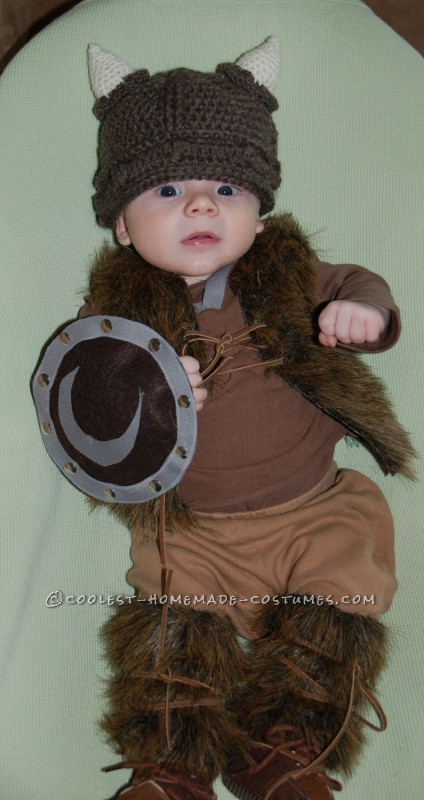 Pint-Sized Baby Pillager Viking Costume - 7