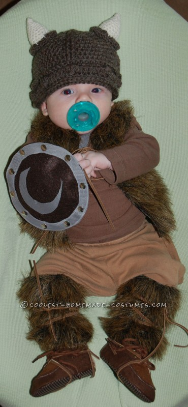 Pint-Sized Baby Pillager Viking Costume - 6