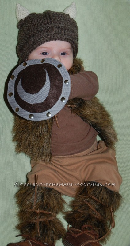 Pint-Sized Baby Pillager Viking Costume - 5