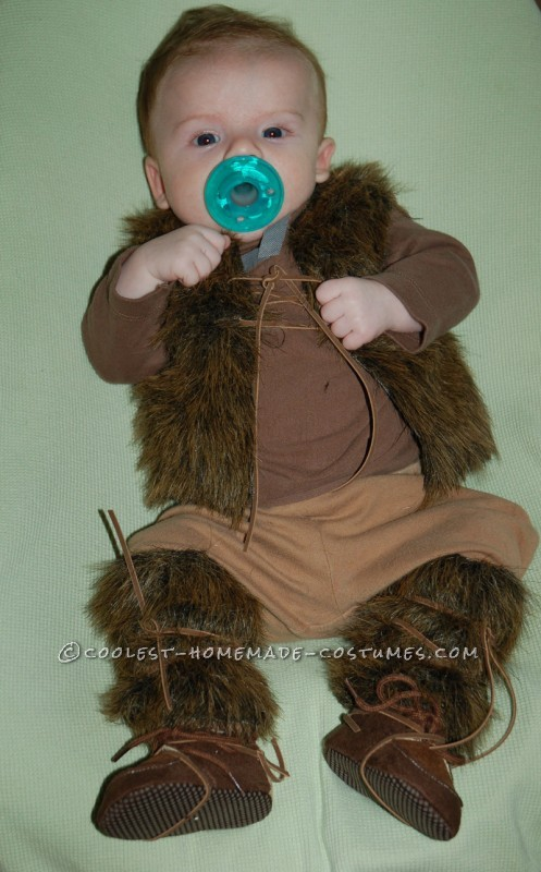 Pint-Sized Baby Pillager Viking Costume - 4