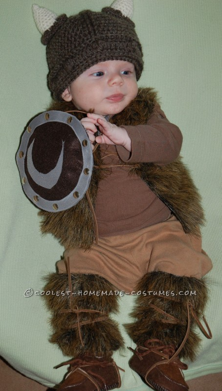 Pint-Sized Baby Pillager Viking Costume - 3