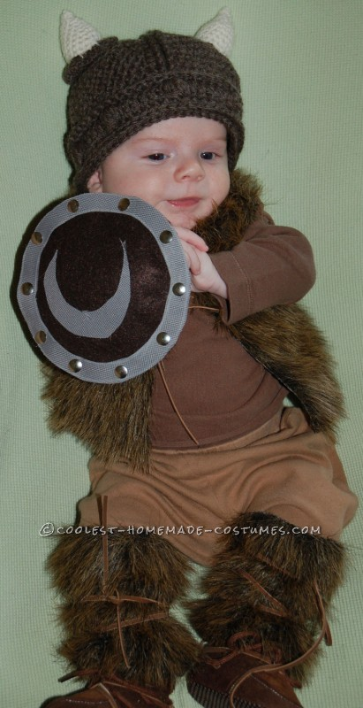 Pint-Sized Baby Pillager Viking Costume - 1
