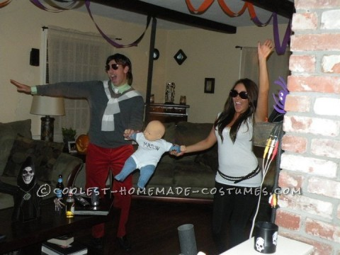 Our Scott and Kourtney costume was the simplest and cheapest costume we have ever done. For Scott we used already on hand clothes (yes, the red