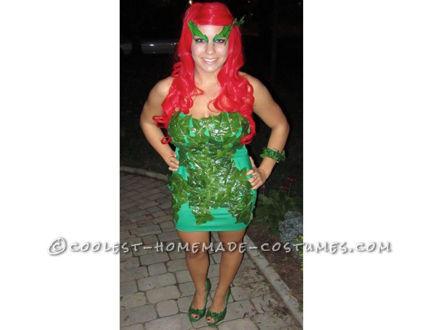 Homemade Poison Ivy Costume Inspired by Kim Kardashian's 2011 Poison Ivy - 7