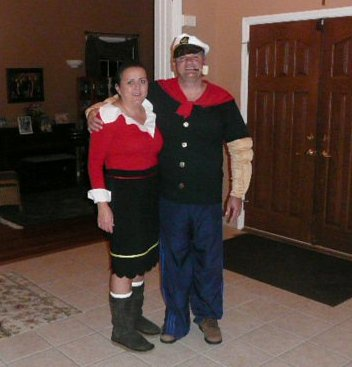 Coolest Popeye and Olive Oyl Couple Costume