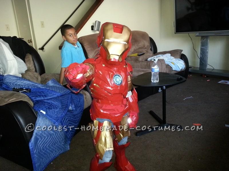 3 year old in Mark III Armor
