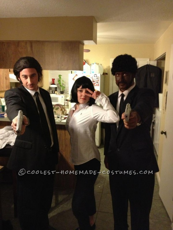 Coolest Pulp Fiction Crew Group Costume: Jules, Vincent and Mia