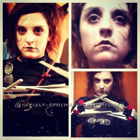 This year i wanted to put my creativeness to work and make a custome costume. Edward Scissorhands is one of my favorite movies! The scissors were cre