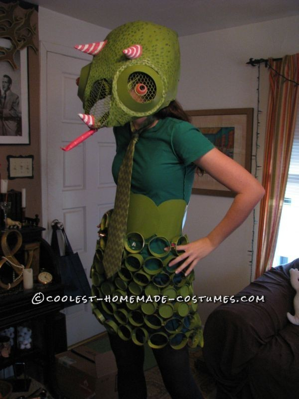 Recycled Chameleon Costume for under $15