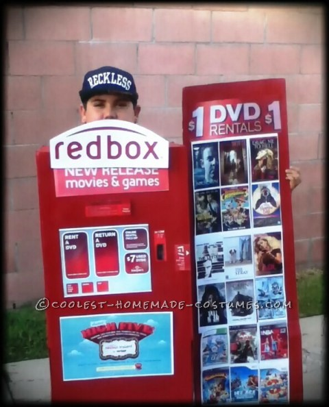 My Son in his Red Box Costume