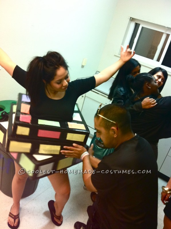 Great Last Minute Rubik's Cube Costume - 7