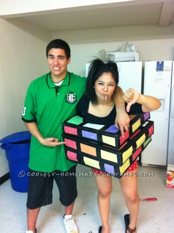 I planned to make a Rubik's cube costume way before halloween just never got around to it until the day before halloween hit! I love getting artsy