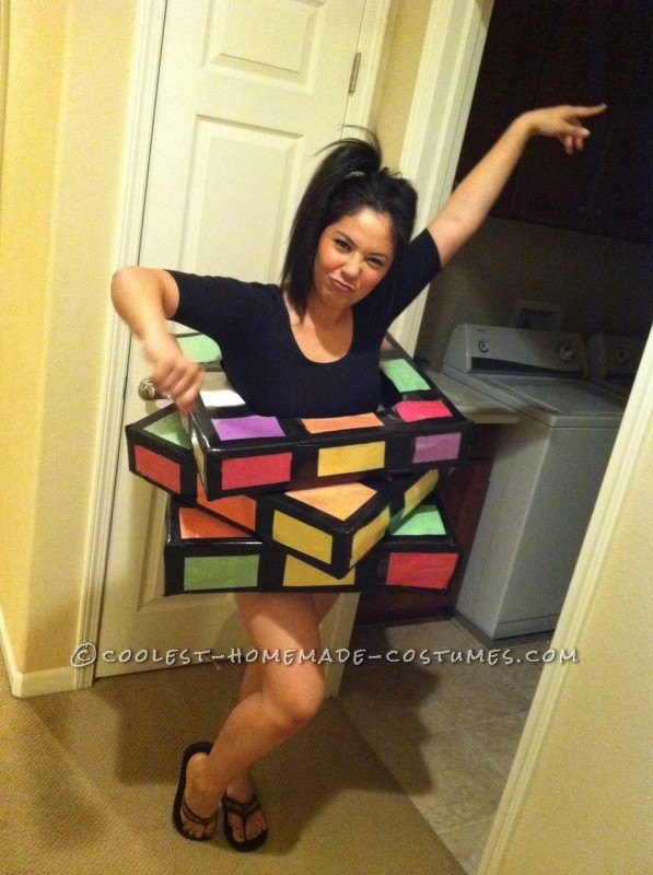 Great Last Minute Rubik's Cube Costume
