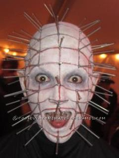 "Every year, I love doing scary costumes, costumes that are so scary, people don't even realize it's me.  Last year, I went with ""Pinhead"" fr"