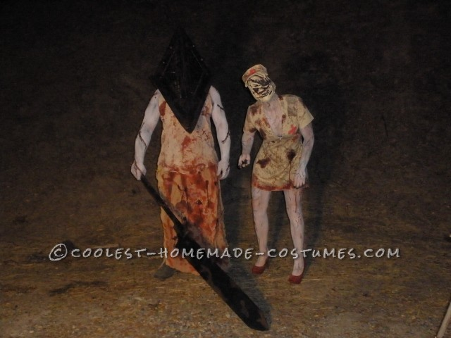 So this year I wanted to make another creepy couples costume for my husband and I.  We've always loved the movie Silent Hill, and I've always