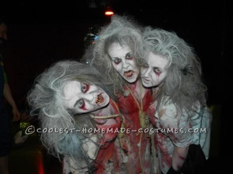 Creepy Zombie Grannies Homemade Group Costume - 2