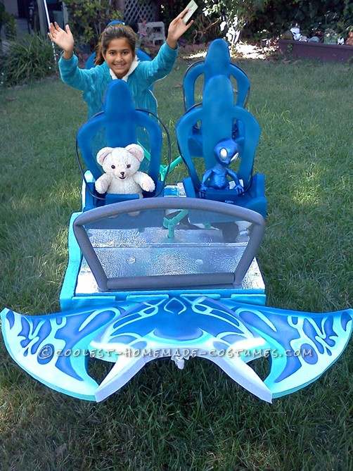 Original Illusion Costume: SeaWorlds Manta Roller Coaster With Cool Water Effect