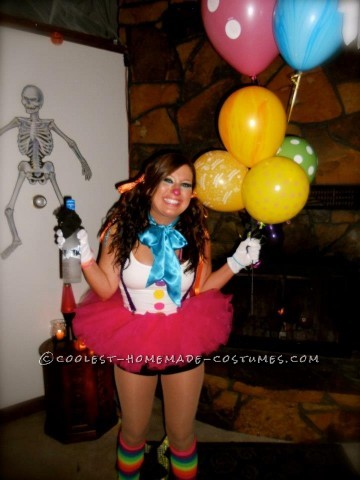 This past year for some strange reason I had the urge to dress up as a clown. I made the costume myself after some heavy duty clown research. My main