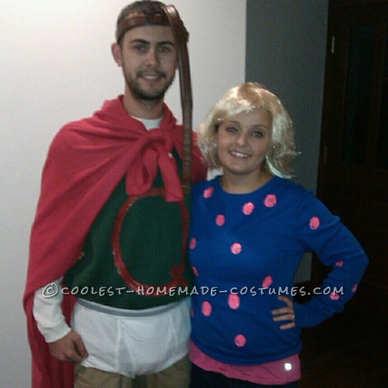 Affordable DIY Quail Man and Patty Mayonnaise Couple Halloween Costume