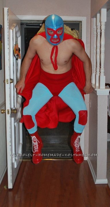 In full character as Nacho Libre