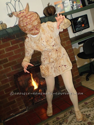 I made this Silent Hill nurse costume a couple years ago entirely by hand! Every aspect, aside from perhaps the shoes and tights, was made by yours t