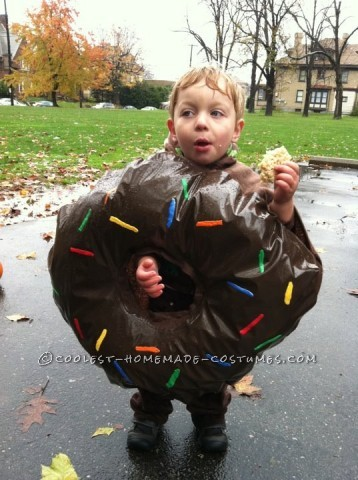 "I asked my two and a half year old son what he wanted to be for Halloween last year and his response was simply, ""I want donuts"". This has been a c"