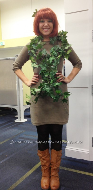 Last-Minute Poison Ivy Halloween Costume - 1