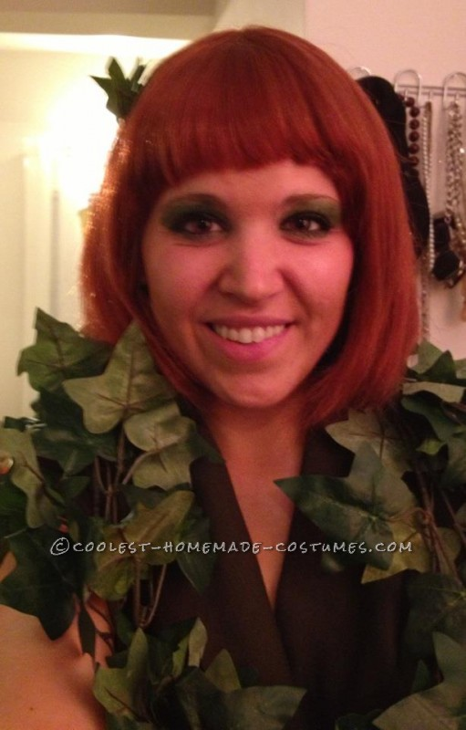 Last-Minute Poison Ivy Halloween Costume