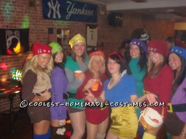 Coolest Snow White and the 7 Sexy Dwarfs Group Costume