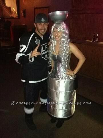 It started off with my love for the LA Kings and there recent win of the Stanley Cup!!! I like to dress up as things that are current....So my girlfr