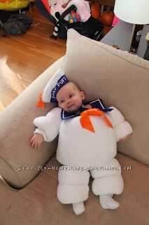 Original Baby Halloween Costume Idea: Stay Puft Marshmallow Baby - 1