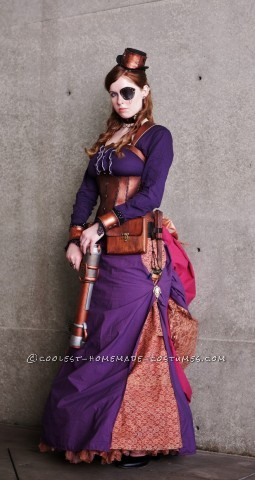 I love steampunk and I wanted a costume that would be elaborate, but fun to make. I have listed here every item and how it was made by order of compl